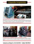 Usado, Maquina Imprenta Heidelberg  Offset / Tipografica segunda mano  Valparaíso | Valparaíso