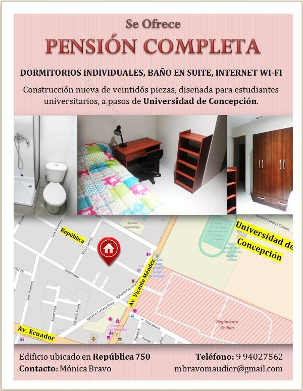 Se ofrece pensi n completa 2017 01 12 economicos de el for Pension para universitarios