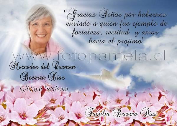 Tarjetas Condolencias Agradecimento Misa Conmemoracion 2018