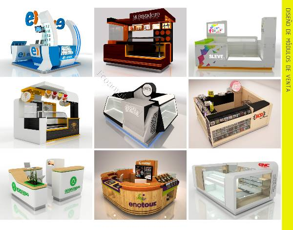 Dise o de m dulos y locales comerciales stands muebles for Construccion de modulos comerciales