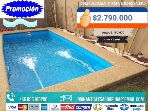 Piscinas fibra de vidrio varios tama os 2017 03 20 for Construccion de piscinas precios chile