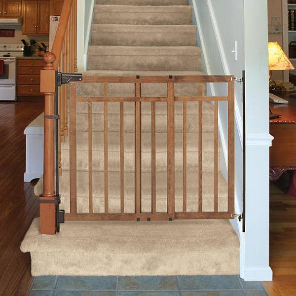 Puerta protecci n de seguridad summer de madera 2016 10 05 - Puertas escaleras para ninos ...