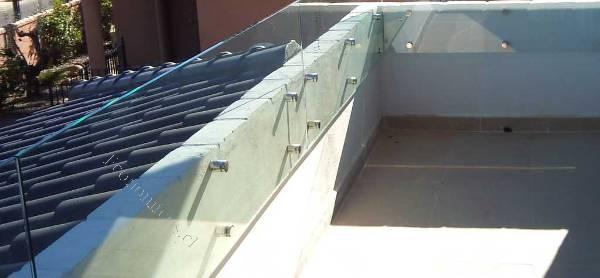 Cierro terrazas libre vista cristal templado anclaje usa - Barandillas de cristal para terrazas ...