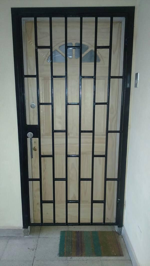 Rejas de seguridad para puertas ideas de disenos for Puertas de reja