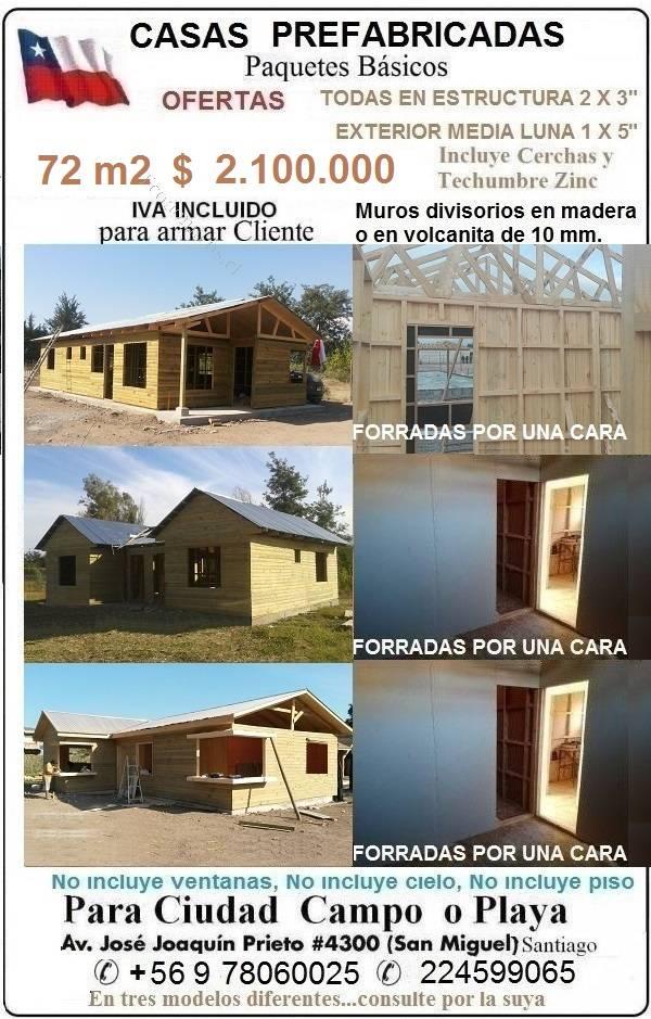 VENDO CASAS O CABAÑAS PREFABRICADAS 72 M2 PARA ARMAR CLIENTE 2017-10 ...