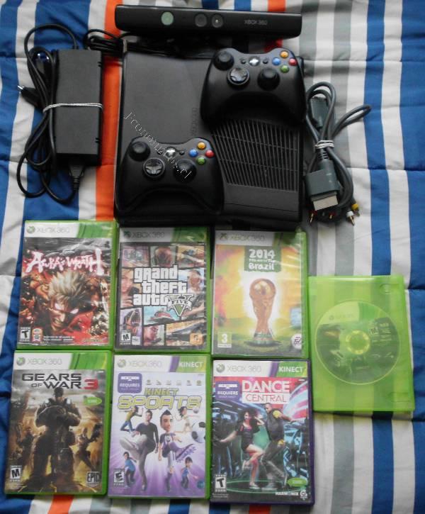 Xbox 360 Con Kinect 2 Controles Y 7 Juegos Originales 2015 12 18 En