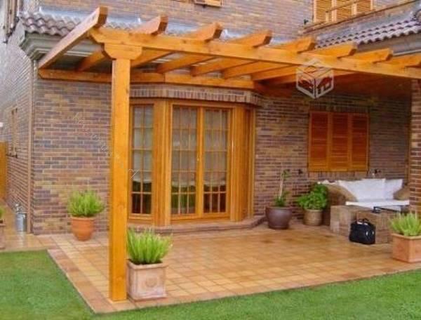 Realice su pergola cobertizo madera y metalicos 2015 03 for Casas con cobertizos