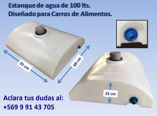 estanque de agua 100 lts para carros de alimentos 2017
