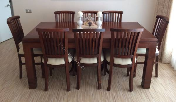 Comedor madera raulí, 8 sillas NUEVO 2016-08-28 Economicos de El ...