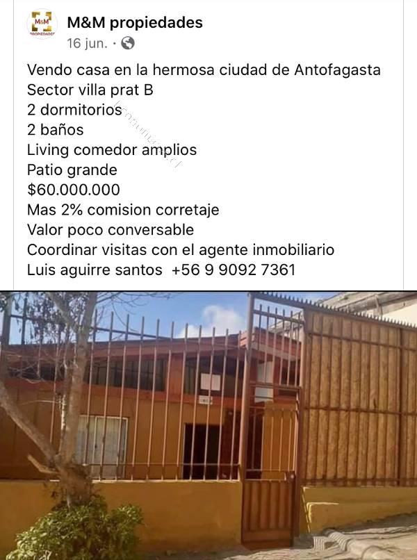 vendo propiedad en antofagasta