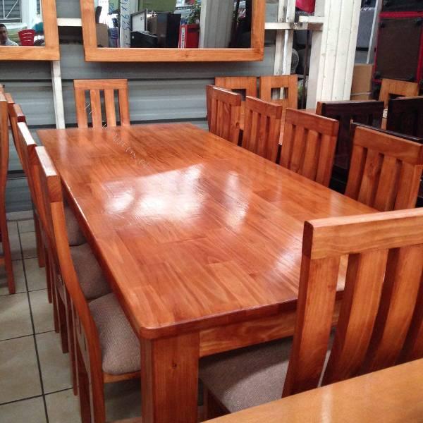 Comedores de pino distintas medidas de 4 a 12 sillas 2016 for Ripley comedores 8 sillas