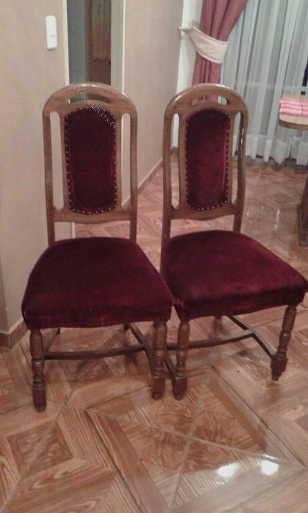 6 sillas de comedor mesa y esquinera de living 2016 03 31 for Sillas para living