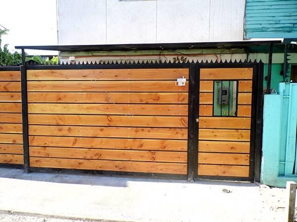 Rejas portones protecciones 2016 01 27 en economicos de el for Como hacer un porton de madera economico