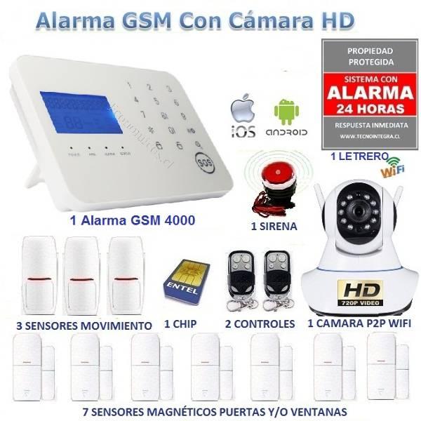 Kit alarma gsm 4000 y c mara hd casa o negocio 2016 11 14 - Sistema de alarma gsm ...