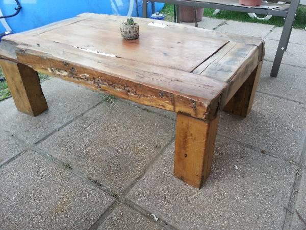 Vendo mesa de centro rustica con vidrio roble - Mesa de centro rustica ...