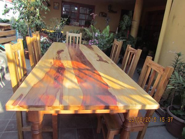 vendo hermosa mesa de comedor en madera nativa 2015-07-03 en ...