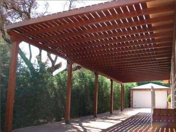 Construccion de pergolas y cobertizos de madera 2017 01 15 for Cobertizo exterior
