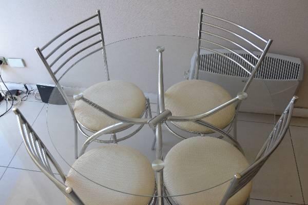 Comedor de vidrio redondo 4 sillas 2016 01 30 en for Comedor redondo 6 sillas