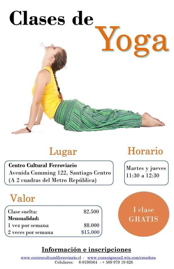 Clases de yoga 2015-04-06 en Economicos de El Mercurio b01ceaa4eb15