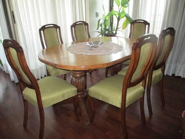 Vendo mesa ovalada de comedor con 6 sillas 2016 06 14 for Vendo sillas comedor