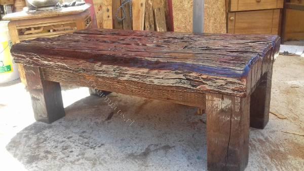 Mesas centro rusticas maderas nobles roble 100 artesanal - Mesas centro rusticas ...