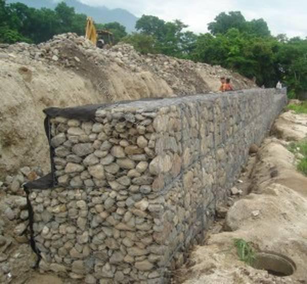 muro de gaviones con piedra - Muro De Gaviones