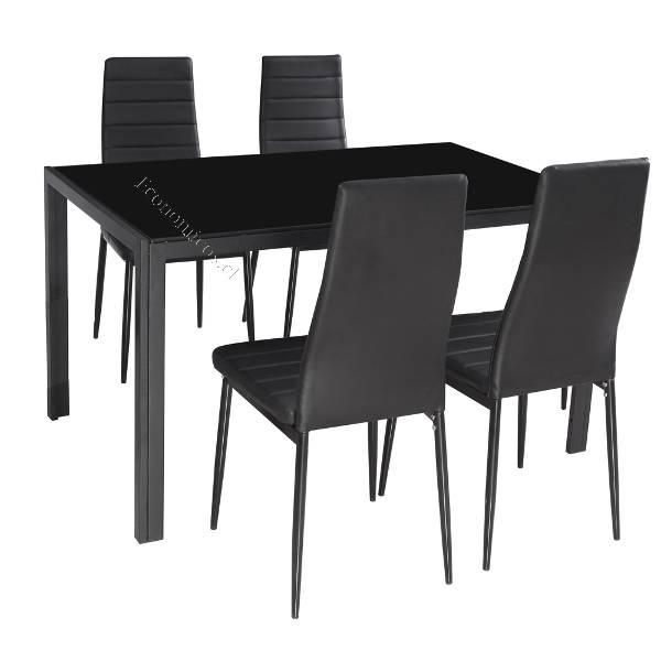 Comedor 6 sillas negro metalico, poco uso BARATISIMO 2016-01-14 ...