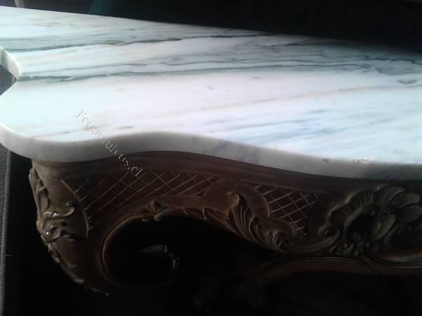 Vendo arrimo de madera con cubierta de marmol 2015 07 21 for Marmol en santiago