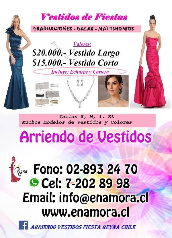 Arriendo Vestidos de Fiestas, graduaciones, galas en Renca 2015-11 ...
