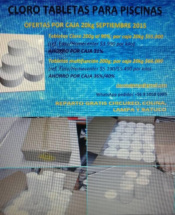 Cloro en tabletas para piscinas 2015 09 01 economicos de - Cloro en piscinas ...